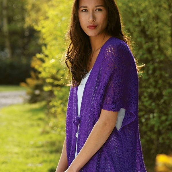 Charisma Yarn Baby Blanket: Charisma Lace Cardigan