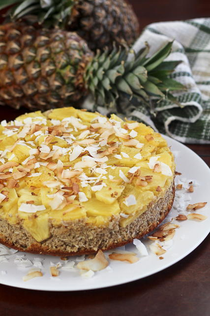 Upside Down Pineapple Breakfast Cake | FaveHealthyRecipes.com