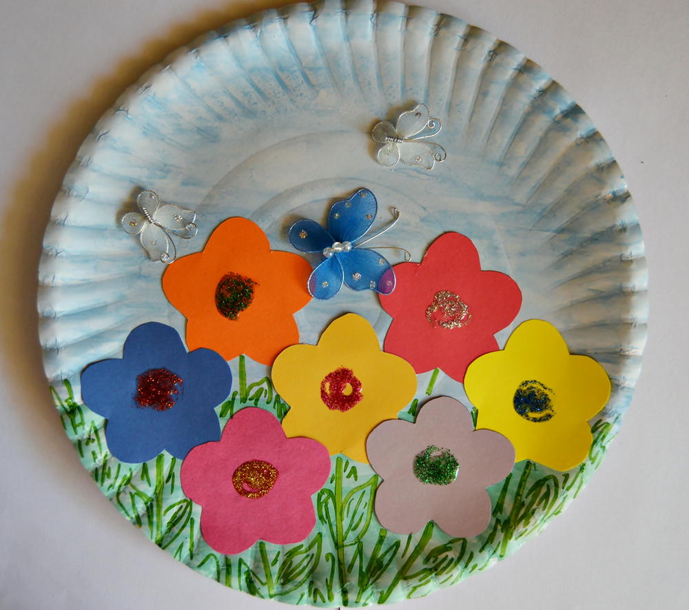 Paper plate spring garden for Crafts to make for kids