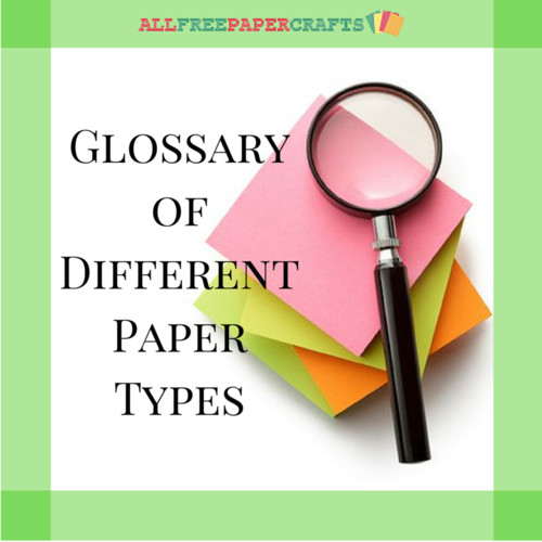 Websites to types paper names and images
