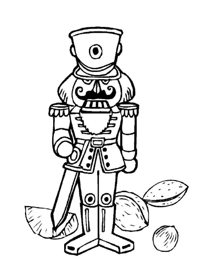 Nutcracker, Bells, and More Christmas Coloring Pages