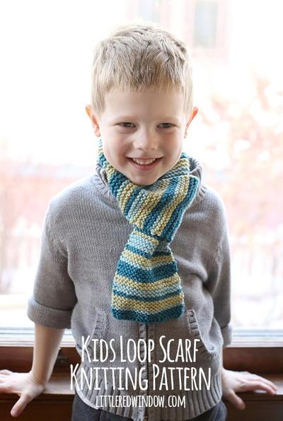 Toddler Scarf Knitting Pattern : Kids Loop Scarf Knitting Pattern AllFreeKnitting.com