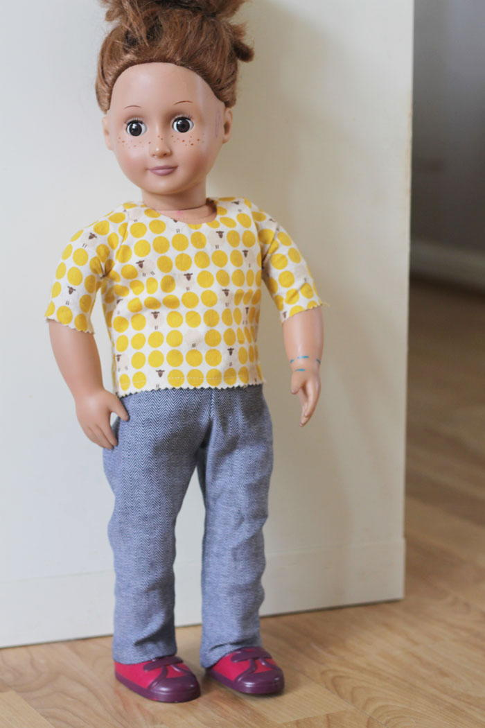 Work Pants Diy Doll Clothes Allfreesewing Com
