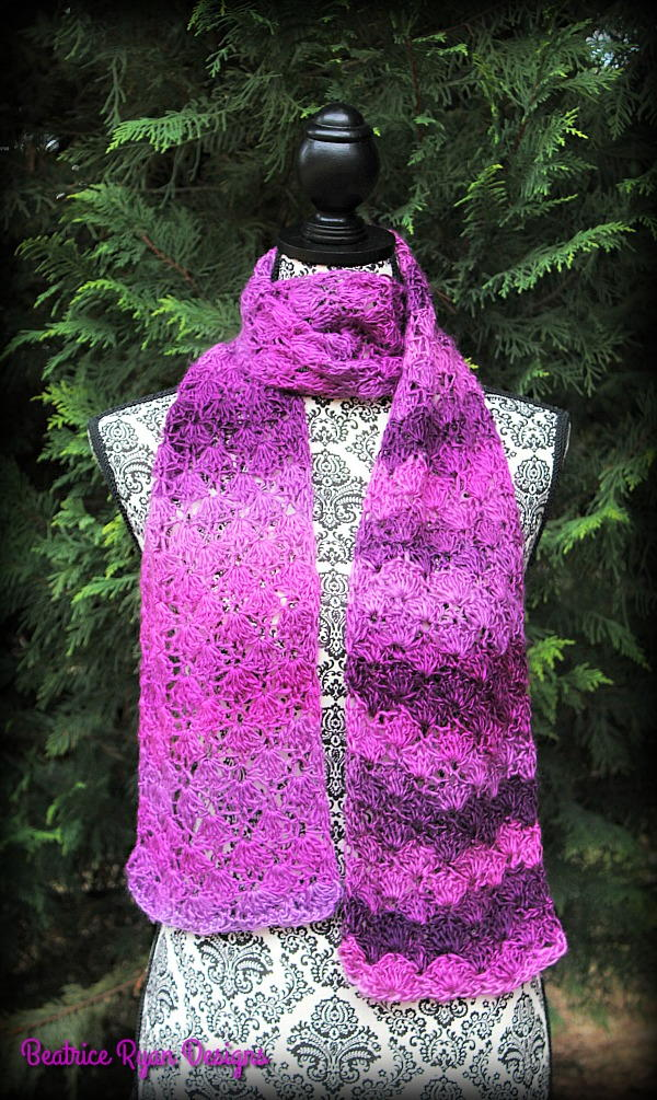 Crochet Scarf Patterns Worsted Weight : Cherished Moments Crochet Scarf AllFreeCrochet.com