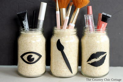 Chic DIY Makeup Organizer