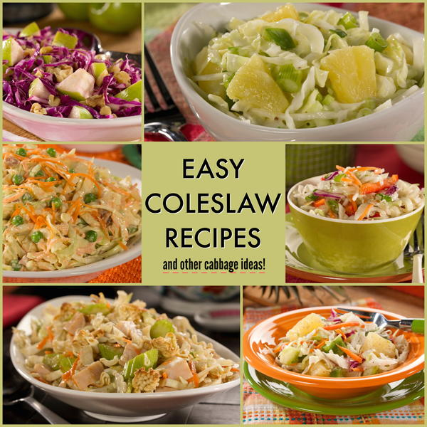 10 Easy Cole Slaw Recipes and Other Cabbage Recipes ...