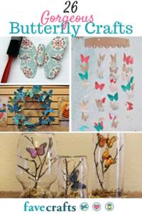 26 Gorgeous Butterfly Crafts