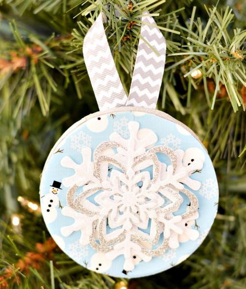 Duct Tape And Snowflake Ornaments