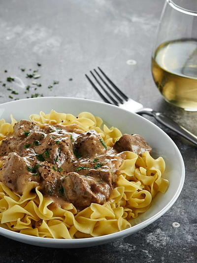 how to make simple beef stroganoff