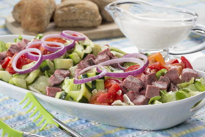 Chilled Beefed-Up Summer Salad