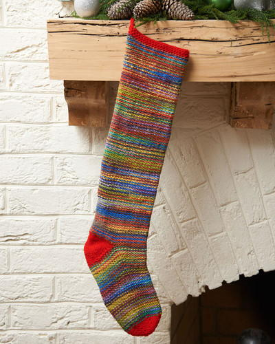 Crazy Colorful Knit Stocking Allfreechristmascrafts Com