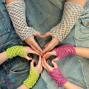 Netties Simple Mitts Crochet Pattern