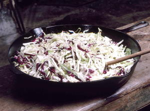 Sauteed Red and White Cabbage