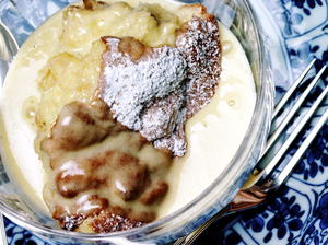 Bread Pudding Souffle with Whiskey Sauce