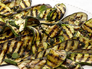 Pan-grilled Eggplant and Zucchini Salad