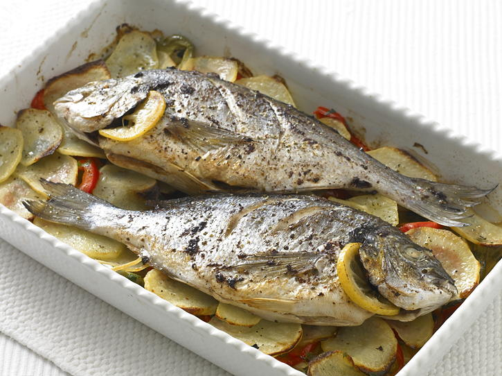 Baked porgy for Broil fish in oven