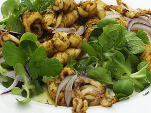 Calamari Salad with Mint and Dill