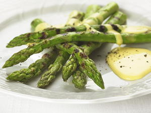 Pan-Grilled Asparagus with Hollandaise
