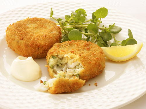 Smoked haddock and herb fishcakes for Prime fish brunch