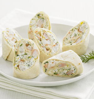 Herbed Shrimp and Goat Cheese Wraps