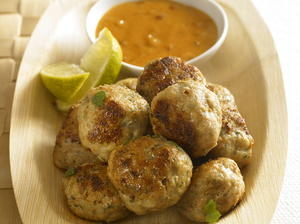 Asian Meatballs with Peanut Sauce