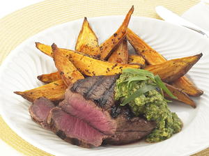 Filet Mignons with Walnut Pesto