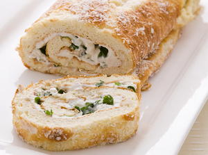 Ricotta and Arugula Roulade