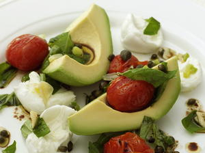 Avocado, Tomato, and Mozzarella Salad