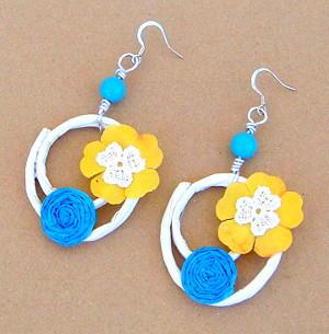 Summer Paper Earrings