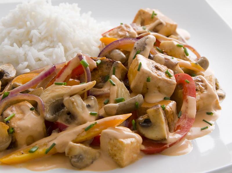Tofu and Mushroom Stroganoff | Cookstr.com