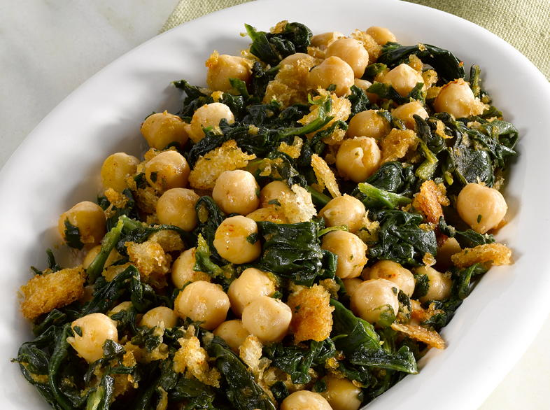 Chickpeas with Spinach | Cookstr.com