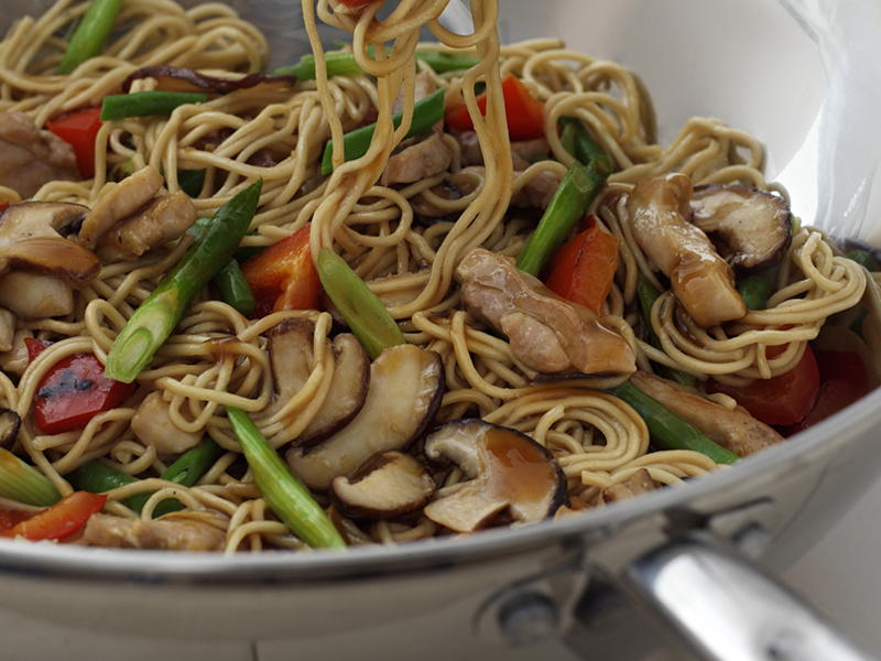 Curry chicken chow mein recipe