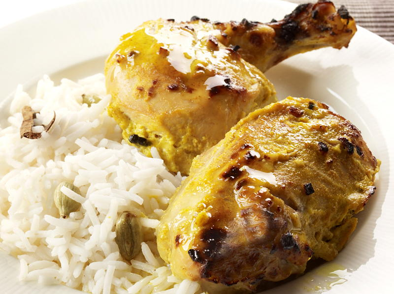 Indian Garlic Chicken | Cookstr.com