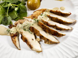 Lemon Honey Chicken Breasts with Mustard Mayonnaise