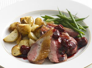 Duck Breasts with Cherries