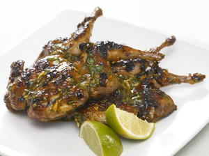 Grilled Quail with Ginger Glaze