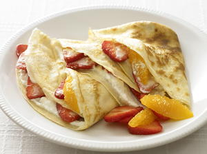Strawberry and Orange Crepes