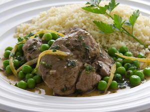 Lamb Braised with Green Peas and Preserved Lemons
