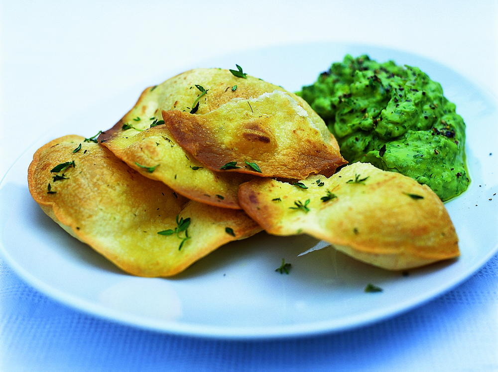 Crispy Tortillas with Guacamole | Cookstr.com
