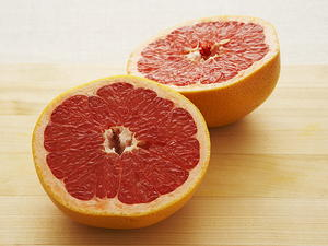 Compote of Red and White Grapefruit with Cointreau