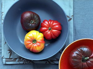 Heirloom Tomato Salad with Basil Vinaigrette