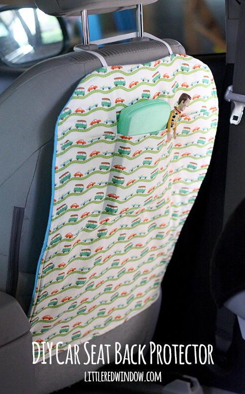Best Way To Clean Car Seats >> DIY Car Seat Back Protector | FaveCrafts.com