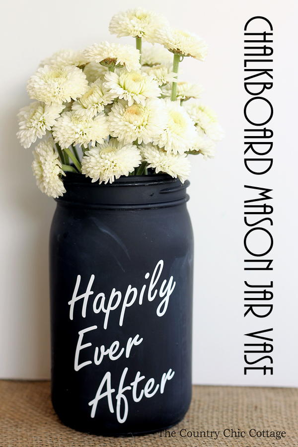 Chalkboard Mason Jar Vase Favecrafts Com