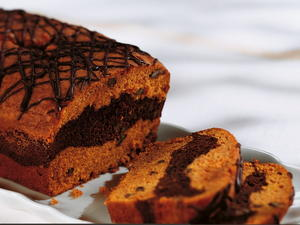 Glazed Chocolate Pumpkin Loaf
