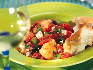 Cod Baked with Tomatoes and Feta