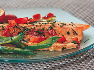 Trout with Fresh Tomato Herb Sauce