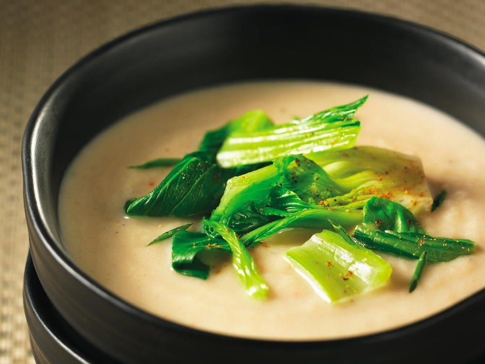 Cream of Roasted Turnip Soup with Baby Bok Choy and Five Spices ...