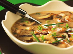Wild Mushroom and Navy Bean Soup