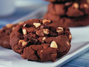 Quadrouple Chocolate Chunk Cookies