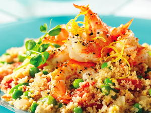 Peppery Shrimp with Couscous